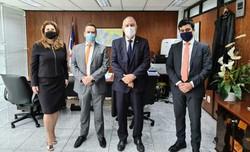 Charbel (Novo) visitou TRE-PE e defendeu o fortalecimento das instituições (Foto: Divulgação)