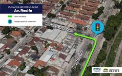 Motoristas têm novo acesso à Rua Jean Emile Favre pela Avenida Recife
