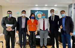 Ministro da Saúde se reuniu com defensores da aplicação retal de ozônio para tratar Covid-19 (Foto: Dep. Federal Giovanni Chierini/Reprodução)