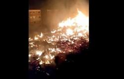 Incêndio em ocupação deixa 250 famílias desabrigadas no Rio (Foto: Reprodução/Twitter)