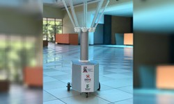 Covid-19: Robô Aurora inicia testes de usabilidade em hospital de Pernambuco (Ele é usado para desinfetar ambientes e eliminar micro-organismos. Foto: Divulgação )