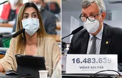Senadora governista crítica placa de 'vidas salvas' de Heinze na CPI (Foto: Waldemir Barreto/Agência Senado)