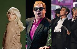 Billie Eilish, Elton John, BTS e outros se apresentam no Global Citizen Live (Foto: Divulgação - Jorge Guerrero/AFP - Robyn Beck/AFP)