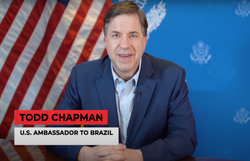 Embaixadores de China e EUA no Brasil trocam farpas em rede social (Embaixadas e consulados no Brasil/ EUA/ Divulgação)