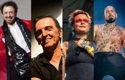 Tom Zé, Paulo Miklos e mais artistas conversam sobre o rock brasileiro em live (Fotos: André Conti, Rodrigo Dionísio, Juliana Strassacapa e Tico Santa Cruz/Divulgação    )