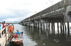 Bolsonaro visita ponte em São Vicente recuperada com recursos federais (Foto: ASCOM/Divulgação)