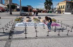 Professores do Recife realizam ato contra a reabertura das escolas