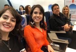 """""""Voos para lugar nenhum"""" fazem sucesso e animam companhias aéreas (Foto: Acervo Pessoal/ Marcella Carlos)"""