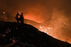 Incêndio violento na Califórnia obriga 90 mil pessoas a deixarem suas casas (Foto: Robyn Beck / AFP)