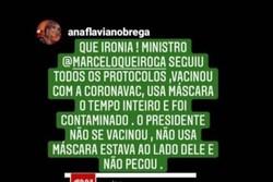 Com Covid, Marcelo Queiroga, ministro da Saúde, compartilha post antivacina (Foto: Reprodução/Instagram)