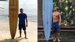 Surfista no Havaí perde a prancha e a encontra dois anos depois nas Filipinas (Foto: Reprodução )