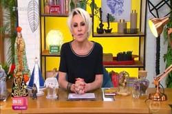 """Ana Maria Braga se desculpa após usar termo 'racismo reverso' (A apresentadora havia dito que Lumena, participante do BBB21, estava fazendo um """"preconceito reverso"""" com outra participante branca, Carla Diaz. Foto: Reprodução/Globo)"""