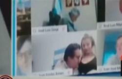 Deputado argentino que beijou seio da mulher em sessão virtual do Congresso renuncia (Foto: Reprodução )