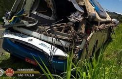 Morre mais uma vítima do acidente de trânsito em Taguaí; total vai a 42 (Foto: Divulgação/Bombeiros PMESP)