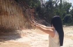 Após se lançar como pré-candidata, Patrícia Domingos publica vídeo atirando em barreira (Patrícia disse que tiros foram em treino)
