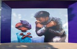 Chadwick Boseman, o Pantera Negra, é homenageado com mural na Disney (Foto: Reprodução/Instagram)