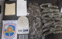 Polícia prende suspeito por tráfico de drogas na Iputinga  (Foto: PM/ divulgação)