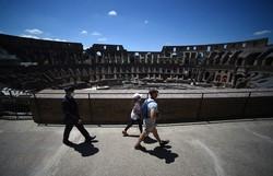Coliseu de Roma tem tímida reabertura em meio à pandemia (Foto:Filippo MONTEFORTE / AFP)