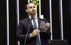Eduardo Bolsonaro é condenado a indenizar jornalista por danos morais (Foto: Michel Jesus/Câmara dos Deputados)
