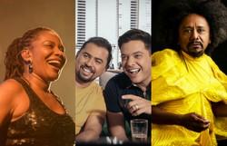 Mais de 30 shows ao vivo neste fim de semana. Confira a programação (Fotos: Laís Domingues/Fundarpe, Diego Menezes/Divulgação, José de Holanda/Divulgação)