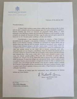 Papa Francisco envia carta em solidariedade a pai de Henry Borel (Foto: Arquivo Pessoal )