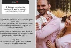 """""""Coisa de retardado"""", diz nora de Bolsonaro sobre movimento antivacina (Foto: Redes Sociais/Reprodução)"""
