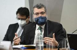 Ernesto Araújo diz desconhecer existência de 'gabinete paralelo' sobre Covid-19 (crédito: Jefferson Rudy/Agência Senado )