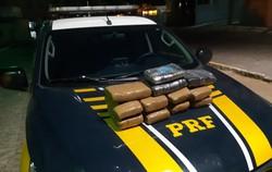 Dois homens são presos com mais de 10 quilos de maconha em Arcoverde (Foto: Reprodução/PRF.)