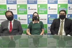 Delegada Patrícia Domingos denuncia intimidação política por parte de Corregedoria de Polícia  (A candidata fez a denúncia ao lado dos advogados da campanha. Foto: Reprodução/Instagram)