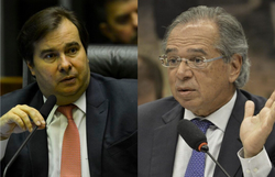 Maia critica lentidão do governo para pagar R$ 600; Guedes cobra Legislativo (Fotos: Marcello Camargo Jr./Agência Brasil e Fabio Rodrigues Pozzebom/Agência Brasil)