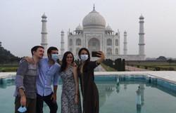 Taj Mahal reabre na Índia apesar do aumento de casos da Covid-19 (Foto: Sajjad Hussain/AFP)
