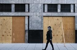 Dias antes de eleição, Washington se protege por medo de distúrbios (Foto: ALEX EDELMAN / AFP )