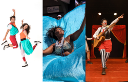 Festival online Brincando na Praça terá encerramento neste final de semana (Foto: Nina Jacobi, Augusto Hirahata e Karime Xavier/Divulgação)