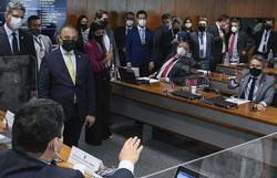 Vieira e Alcolumbre batem boca por sabatina de André Mendonça (Foto: Roque de Sá/Agência Senado)