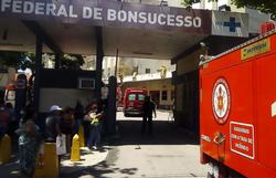 Morre segunda vítima após incêndio do Hospital Federal de Bonsucesso (Foto: Reprodução Twitter/ Centro de Operações do rio )