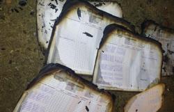 Escola indígena é pichada e tem livros queimados em Águas Belas, Agreste de Pernambuco (Foto: Arquivo pessoal)