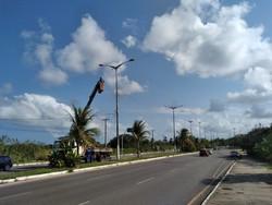 Após ação de vândalos,  iluminação pública é reinstalada em Olinda (Foto: Divulgação/Olinda)