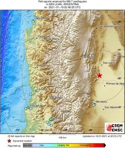 Terremoto de 6,4 graus atinge a Argentina (Foto: Twitter / Reprodução)