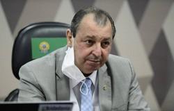 Omar Aziz sobre Bolsonaro: 'Até no ato de defecar o presidente mente'' (crédito: Pedro França/Agência Senado)