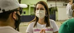 Em visita a Campo Grande, Delegada Patrícia (Podemos) promete uma gestão compromissada com a saúde (Fotos: Tiago Calazans)