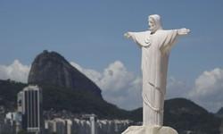 Cristo Redentor passa por desinfecção antes da reabertura no sábado (Foto: Fernando Frazão / Agência Brasil)
