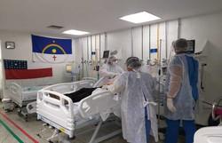 Em megaoperação, pacientes de Covid do Amazonas são internados no antigo Alfa e no Hospital das Clínicas (Foto: SES-PE/Divulgação)