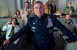 Space Force, com Steve Carrell, faz piada com poder e militarismo (Foto: Netflix/Divulgação)