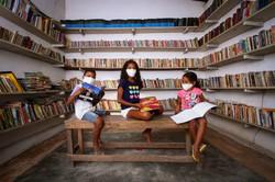 Biblioteca Comunitária de Comportas retoma atividades com leitura e brincadeiras (Foto: Bruna Costa/ Esp. DP FOTO)