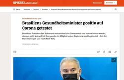 Após pegar Covid-19, Queiroga é manchete de jornais internacionais; confira (foto: Der Spiegel/Reprodução)
