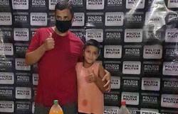 Vídeo: menino emociona ao pedir PM que levasse o pai no seu aniversário (Foto: Policia Militar/divulgação)