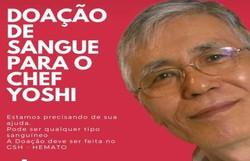 Campanha busca arrecadar sangue para o chef Yoshi (Divulgação)