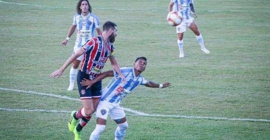Goleiro Maycon Cleiton foi o nome dos primeiros 45 minutos de partida (Jorge Luiz/Paysandu)