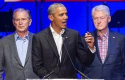 Covid-19: Bush, Clinton e Obama querem tomar vacina na televisão (Foto: Jim Chapin/AFP)