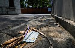 Depois de ter Covid-19, médico deixa quarentena para sepultar a mãe, vítima do coronavírus (Foto: Romeo Gacad/AFP  )